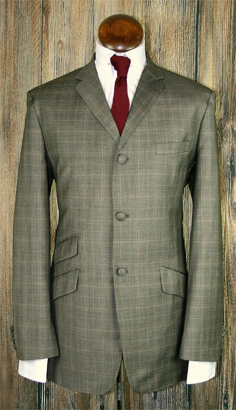"""Maurice"" Nutmeg Checked 3 button Suit"
